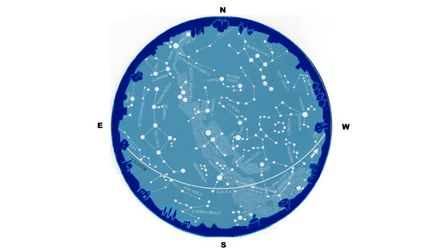 The sky will look like the chart onAugust7at 9pm and again onAugust23at 8pm.