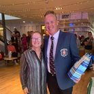St Ives Golf Club captainsMarie Woodall and Jim Watson