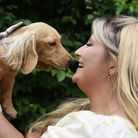 Instagram dog star Eevee, with her owner Kitty Brandon, who invited local sausage dogs to a picnic,