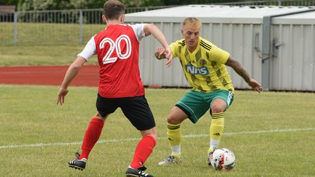 The NCFC legends v NHS staff match taking place in memory of Mike Sutton at Wellesley Recreation Gro