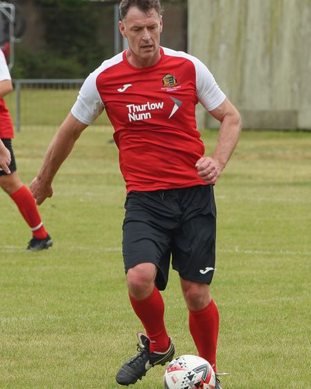 Chris Sutton during the NCFC Legends versus NHS heroes match at Great Yarmouth Football Club.. Pictu