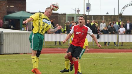 Chris Sutton watches on during the charity game at Great Yarmouth FC. Picture: Danielle Booden