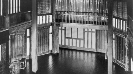 A picture showing how the Maddermarket Theatre stage in Norwich used to look.