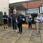 Members of the Norwich Players being directed by director Tony Fullwood for their The Merry Wives of Norwich performance.