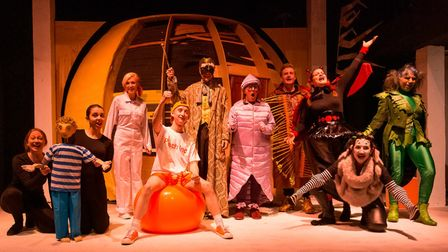 A recent production of James and the Giant Peach at the Maddermarket Theatre in Norwich before the covid lockdown.