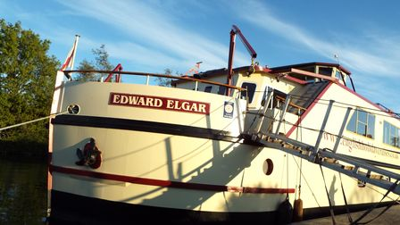 Edward Elgar moore in the evening sunshine at Purton