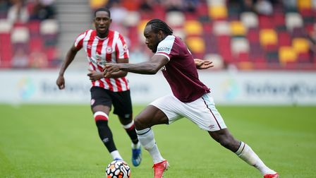 West Ham United's Michail Antonio during the pre-season friendly match at the Brentford Community St