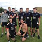Nailsea's Good Looking celebrate their six-a-side tournament win