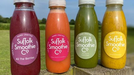 A selection of smoothies from the Suffolk Smoothie Company