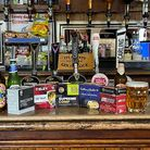 cartridge boxes on a bar in the pub