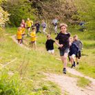 James Cook, nine, taking part in the Wimpole Park Run