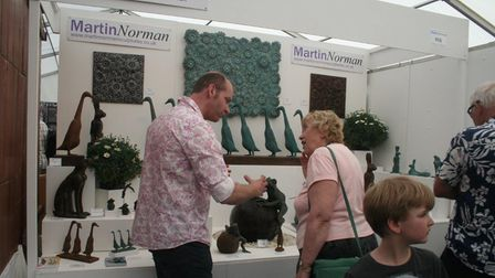 Martin Norman Sculptures will be at the Craft In Focuscraft and design fair at RHS Garden Hyde Hall in Essex.