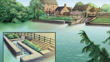 An artist's impression of what the Godmanchester river front will look like.