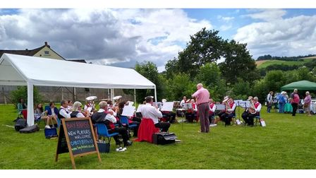 Brass Band playing at fete