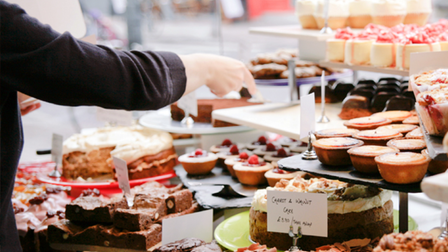 Cake galore at Ottolenghi's Islington branch in Upper Street