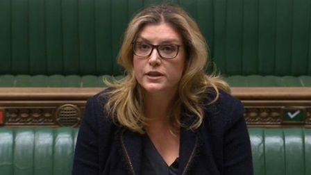 Cabinet Office minister Penny Mordaunt said Brexit trade talks could not go on 'forever'; Parliament