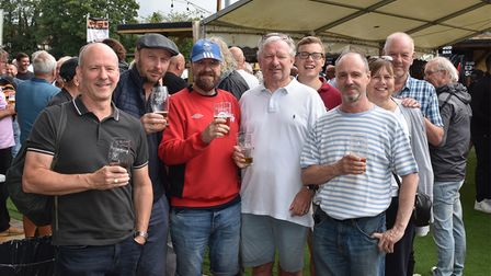 People at the Potters Bar Town FC Beer & Music Festival