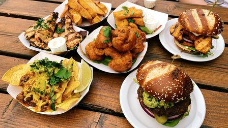 Burgers and small plates from The Rose Tavern in Norwich.
