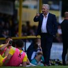 Martyn Rogers, Manager of Tiverton Town during the pre-season friendly match between Tiverton Town a