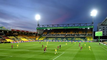 A general view of the players in action during the Sky Bet Championship match at Carrow Road, Norwic