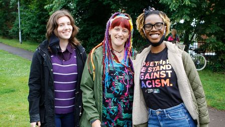 Jasmine, Lea and Kava at the Together We Stand event in Hitchin