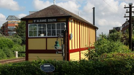 The repainted St Albans South Signal Box has reopenedto the public