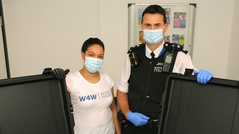 Word 4 Weapons manager Camara Fearon and Insp Stephen Johnston-Keay of Islington Police