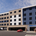 A CGI of the Travelodge hotel planned for Russell Road Retail Park in Ipswich