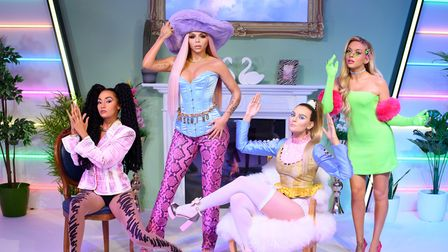 Madame Tussauds London unveils Little Mix's figures - 28.07.21Images taken as part of a Covid-sec