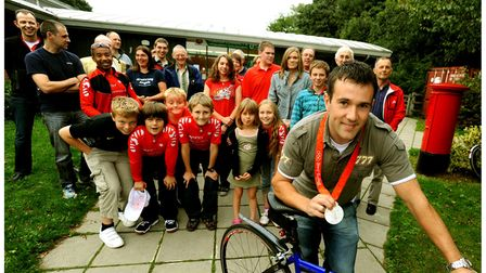 Ross Edgar, cycling silver medallist, at Moreton Hall Community Centre in Bury St Edmunds in 2008