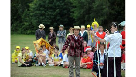 Pupils at Amberfield School, Nacton, took part in a 1912 Olympics event in 2011