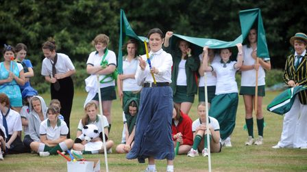 Pupils at Amberfield School, Nacton took part in a 1912 Olympics event in 2011