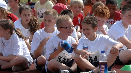 A Mini Olympics for primary school children at Northgate Sports Centre, Ipswich, in 2010