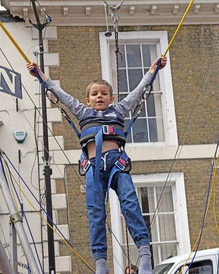 Tommy, five years old at Huntingdon Fun Day