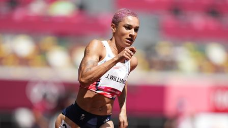 Welwyn Garden City's Jodie Williams during the 400m heats at the Tokyo Olympics 2020