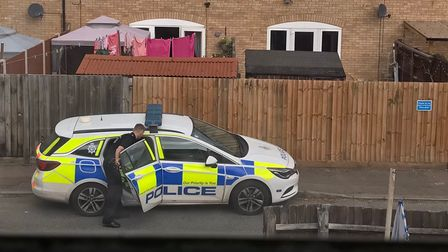Police presence in Oak close, off Middleton Crescent on morning of August 3.