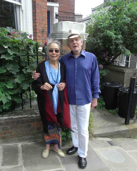 Piers Plowright with his beloved wife Poh Sim