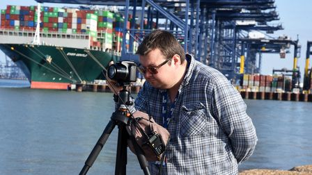 Dean Cable snaps some views of the Ever Given as it prepares to dock at Felixstowe port