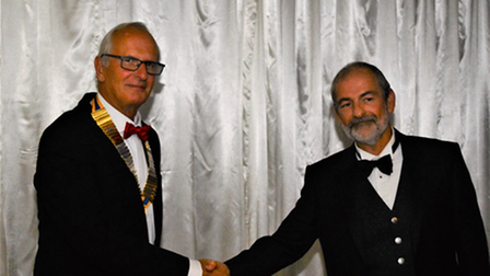 Steve Higginbotham has taken over the presidency of Royston Rotary Club from Martin Berry