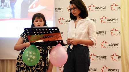 Young people, Laura and Erin, speaking about their experiences during the Prince's Trust programme at Inspire Suffolk