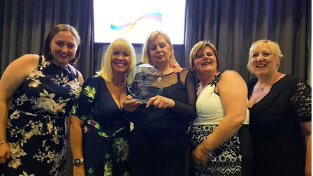 The Torquay team with their GB Care Award