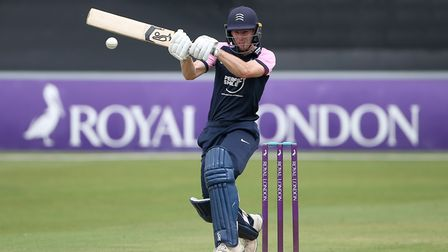 Robbie White in batting action for Middlesex during Essex Eagles vs Middlesex, Royal London One-Day