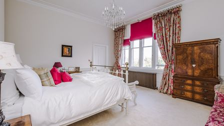 There are five bedrooms, in addition to the master suite