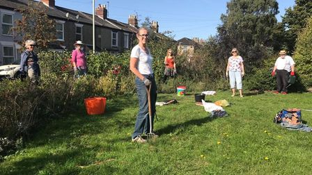 The Lakenham and Town Close Green Spaces community gardening group are doing a clean-up session on J
