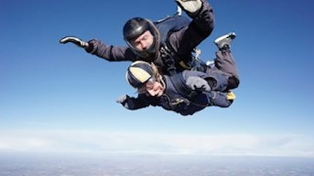 Elaine is no stranger to the skies having already sky dived for Moorfields Eye Charity.