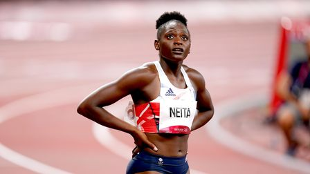 Great Britain's Daryll Neita after the 100 metres final at the Tokyo 2020 Olympics
