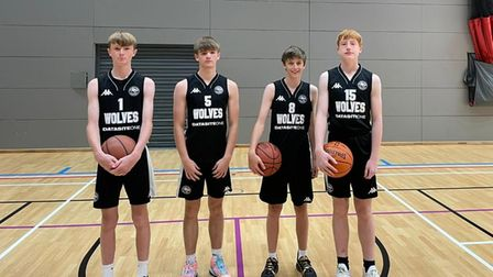 Oaklands Wolves' boys at theEast Region U15 3-on-3 basketball tournament.
