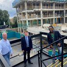 From left to right: Director of regeneration programmes Neil Stubbings, Cllr Damian White and Cllr M