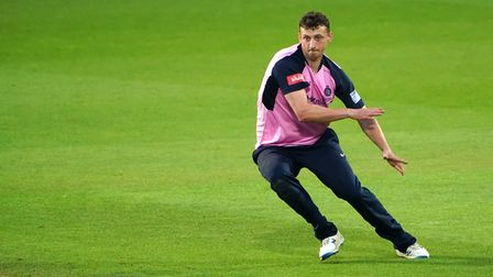 Middlesex's Luke Hollman in action during the Vitality Blast T20