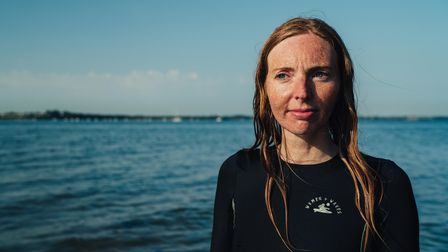 Photograph of wild swimmer